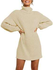 Margrine Women's Casual Crew Neck Batwing Sleeve Knit Pullover Sweater Tops Khaki M2A40-kaqi-S