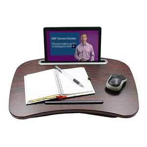 Lap Desk, Portable Laptop Lap Desk with Pillow Cushion, Large Laptop Stand with Phone Tablet Holder and Anti-Slip Strip, Lap Desk for Kids and Adults