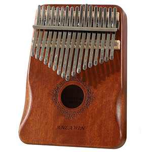 Thumb Piano 17 Keys Kalimba Mbira Sanza African Finger Piano for Kids Adult Beginners Professionals With Instruction Book