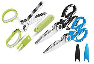 Kitchen Shears,Herb Scissors , 3-Pack Premium Heavy Duty Shears Ultra Sharp Stainless Steel Multi-function Kitchen Scissors for Chicken PoultryFish,Meat,Vegetables,Herbs,BBQ