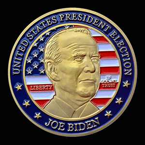 Joe Biden 2020 United States President Election Challenge Coin Collector's Medallion, Jewelry Quality