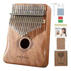 Thumb Piano 17 Keys Kalimba Mbira Sanza With Tune Hammer And Instruction Book Solid Mahogany Portable African Finger Piano for Kids Adult Beginners Professionals