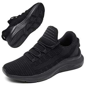 GEMAX Tennis Shoes for Women Walking Shoes - Womens Fashion Sneakers Lightweight for Running Gym Travel Black Size 6