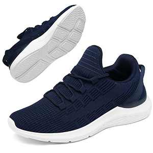 GEMAX Tennis Shoes for Women Walking Shoes - Womens Fashion Sneakers Lightweight for Running Gym Travel Navy Blue Size 11