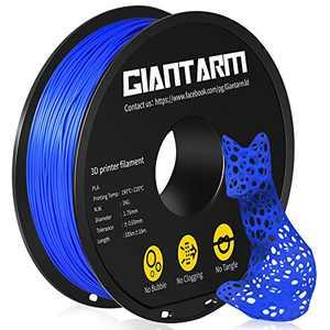 PLA 3D Printer Filament, GIANTARM PLA Filament 1.75mm, Dimensional Accuracy +/- 0.02mm, 1kg(2.2lbs)Spool, Vacuum Packaging, Fit for Most 3D Printer in Markt, Blue