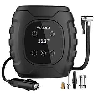 Aoboco Digital Tire Inflator, 12V 100PSI Tire Pump with HD LED Touch Screen, Portable Air Compressor Tyre Pump for Car Motorcycle Bicycle Air Mattress