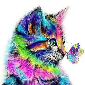BLOCE Cat Diamond Painting Kits for Adults, 11.8 X 15.8in DIY Full Drill Arts Craft Canvas Supply for Home Wall Decor (Cat-A)