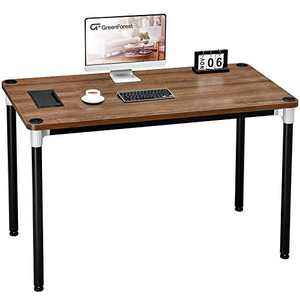 "GreenForest Computer Desk 47"" Home Office Writing Small Desk, Modern Simple PC Table, Sturdy Workstation, Walnut"