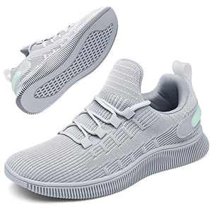 GEMAX Tennis Shoes for Women Walking Shoes - Womens Fashion Sneakers Lightweight for Running Gym Travel Grey Size 9