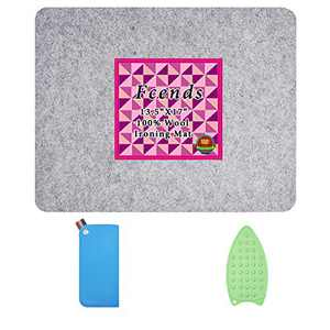 """17"""" x 13.5"""" Wool Ironing Mat for Quilters - Wool Pressing Mat, Easy Press Felted Ironing Pad, Portable and Perfect for Quilting, Sewing, Pressing Seams, Embroidery & Crafts"""