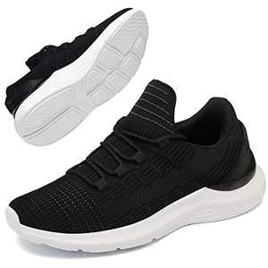 GEMAX Tennis Shoes for Women Walking Shoes - Womens Fashion Sneakers Lightweight for Running Gym Travel Black Size 6.5