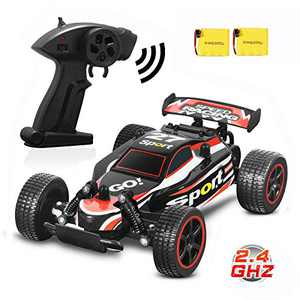 Blexy RC Racing Cars 2.4Ghz High Speed Vehicle 1:20 2WD Radio Remote Control Racing Toy Cars Electric Fast Race Buggy Hobby Car for Kids Gift Red (Red 211)