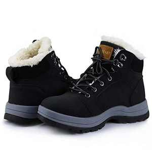 VISIONREAST Mens Snow Boots Insulated Outdoor Hiking Shoes Fur Lined Warm Winter Boots