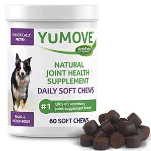Lintbells YuMOVE Joint Supplement Dog Chews - Contains Glucosamine, Green Lipped Mussel - Natural Relief from Hip Ache, Stiff Joints - 1 Month's Supply (Small & Medium)