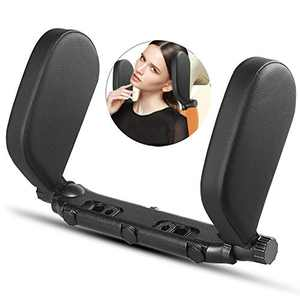 Car Headrest Pillow, Car Neck Pillow Head Pillow, Adjustable Both Sides U Shaped Travel Vehicle Seat Head Support Pillow for Kids Adults Elders Teenagers