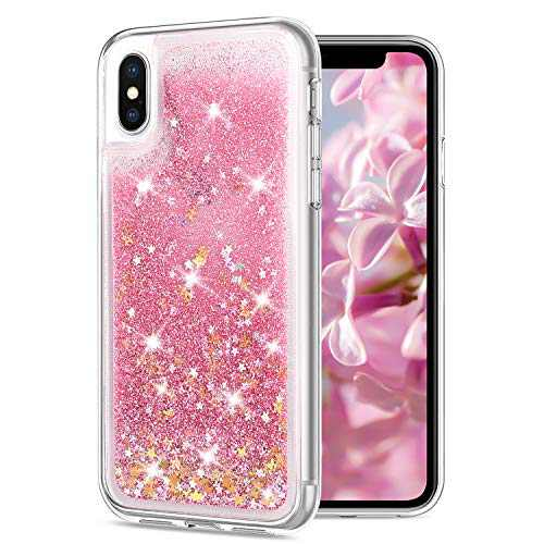 Carantee Case for iPhone X iPhone Xs, Sparkle Bling Cute iPhone Case for Girls, Shockproof Case X XS 5.8 inches for Women
