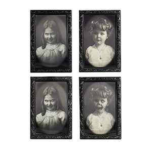 Halloween Decorations 3D Changing Face Expression Moving Portrait Picture Frames for Horror Party Halloween House Decoration