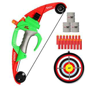 NextX Bow and Arrow Set - Foam Bow Archery Set for Kids with Target(Over 100ft)