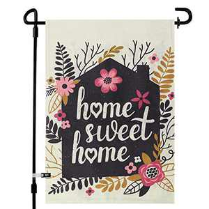 augtarlion Home Sweet Home Garden Flags for Outside, Yard Flags Vertical Double Sided 12.5 x 18In, 28x40In Farmhouse Burlap Small Garden Flags, Summer Spring Garden Decorations (28x40in, Sweet Home)
