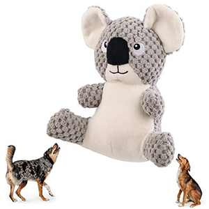 Beewarm Squeaky Dog Chew Toys for Large Medium Small Dogs- Lifetime Replacement Guarantee - Stuffed Animals Rope Chew Toy for Puppy Koala