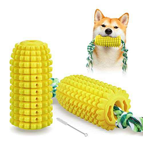 FOCUSPET Dog Chew Toys , Puppy Teething Chew Toys Indestructible Dog Toys for Aggressive Chewers Large Breed Interactive Treat Toys Dog Toothbrush Dog Dental Care Bite-Resistant Tough Chew Rope Toys