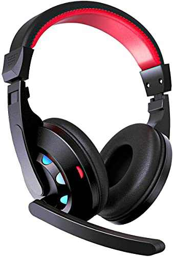 SHENMATE Gaming Headset with Microphone, Noise Cancellation Headset, Over Ear Headphones with Soft Ear Muff, Video Games Headphones for Xbox One/PS4/PC/Mac with Bass Surround Sound for Nintendo