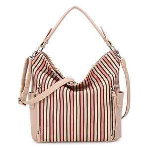 Women Handbag Designer Leather Hobo Handbags Shoulder Bucket Crossbody Purse (N9002P#33-451#8/K851#45-APRICOT/APROCOT)