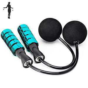 APLUGTEK Jump Rope, Weighted Ropeless Skipping Rope for Fitness, Tangle-Free Rapid Speed Cordless Jump Rope Workout for Men, Women, Children