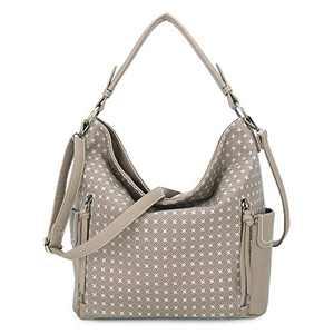 Women Handbag Designer Leather Hobo Handbags Shoulder Bucket Crossbody Purse (N9002P#33-302#10/K851#17S-ARPICOT)