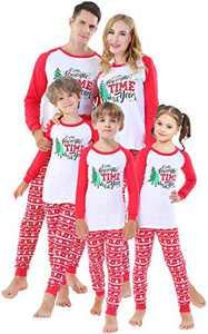 Matching Family Christmas Tree Pajamas Cotton Clothes Xmas Holiday Pyjamas Mum and Me Sleepwear 12 Months