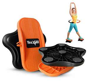 Yes4All Waist Twister, New Generation of Waist Twisting Disc, Ab Twister Board, Twist Disc Exercise, Twist Board, at-Home Workout Equipment for Weight Loss (Black/Orange)
