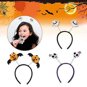 Halloween Hair Hoop for Women, MTSCE 3PCS Halloween Head Bands for Girls 6 age+ Hair Wear for New Years Decoration