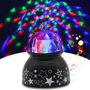 Sound Activated Party Lights, Yohuton Dj Lighting, RBG Disco Ball, Strobe Lamp Stage Par Light for Home Room Dance Parties Birthday DJ Bar Karaoke Xmas Wedding Show Club Pub Great Gift
