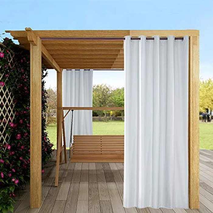 """Mingfuxin Outdoor Curtains, 1 Panels Garden Patio Gazebo Sunscreen Blackout Curtains, Waterproof & Thermal Insulated Curtains with Grommet for Porch Cabana Dock£¨54"""" x 108"""" 