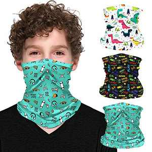 ZukoCert Kids Neck Gaiter Cycling Outdoor Girls Boys Face Scarf Balaclava Dust-Proof Kids Face Cover Kids Bandanas(B)