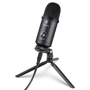 RALENO Microphones Professional USB Microphone for Recording, Streaming, Podcasting, Broadcasting, Gaming, Voiceovers, Plug & Play with Tripod Stand, Compatible with PC Laptop and Mac