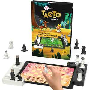 Tacto Chess by PlayShifu (app Based) - Real Figurines, Digital Games | Interactive Story-Based Chess Game Set | Brain Games | Educational Gifts for Boys and Girls Ages 6 & up (Tablet not Included)