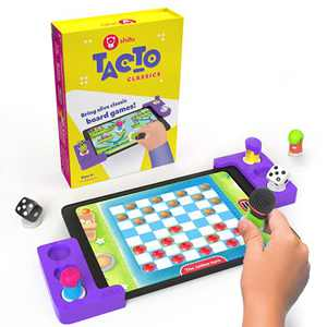 Tacto Classics by PlayShifu (app Based) - Interactive Family Board Games for Ages 4 & Up | Checkers, Ludo, Ladders & More | Strategy Games & Gifts for Boys & Girls (Tablet not Included) | 1-4 Players