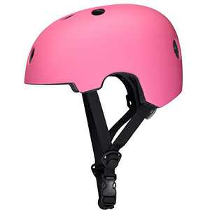corki Upgraded Skateboard Helmet CPSC Certified,Comfortable Kids Bike Helmet 2.5-16 Years for Cycling Skateboarding Scooter Roller Skate Inline Skating Rollerblading Longboard BMX Pink Small