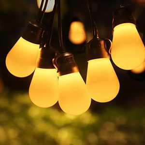 Govee Outdoor String Lights 48ft, Remote Patio Lights with 15 Dimmable Warm White LED Bulbs, Waterproof and Shatterproof Outdoor LED Lights for Patio, Garden, Backyard, Party