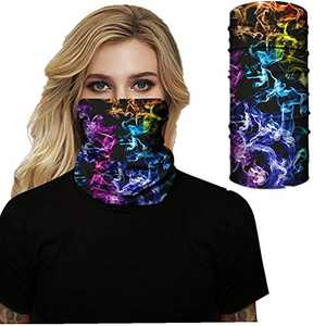 Neck Gaiter Scarf Face Mask MURLISTER Bandana for Rave Fishing Ventilated Motorcycle Face Mask for Women Men