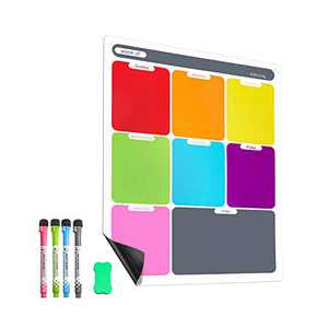 Magnetic Dry Erase Calendar Refrigerator Weekly Calendar whiteboard Planner for Fridge with 8 Color Markers Menu Board Organizer List for Kitchen/School/Office