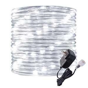Rope Lights Outdoor, 16ft Daylight LED Mini Light Strip Lights, Connectable and Waterproof 12v, Flexible with Plug for Tube Light Rope,for Home Garden Camping Party Pario Indoors Use