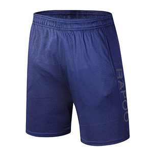 Rapoo Men's Workout Running Shorts Lightweight Quick Dry Gym Athletic Training Short Pants with Liner Pocket(Blue XL)