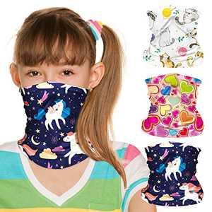 ZukoCert Kids Neck Gaiter Cycling Outdoor Girls Boys Face Scarf Balaclava Dust-Proof Kids Face Cover Kids Bandanas(D)