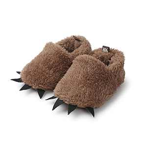TMEOG Baby Boys Girls Soft Anti-Slip Sole Slipper Booties Infant Toddler First Walkers Shoes Warm Baby Slippers Winter Shoes Dark Brown