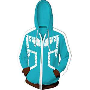 EMEISAN Anime My Hero Academia Cosplay Hoodie Zip up Hooded Costume Hooded Jacket Coat (Color 6, XL)
