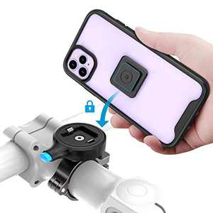 Sokusin Metal Bike Phone Mount,Shockness Bicycle Case for iPhone 11 Pro, Aluminum Alloy One Second Release Bicycle Holder,Motorcycle Handlebars Mount