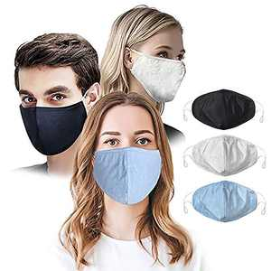 VNFOX 3 PCS Fashion Unisex Washable and Reusable Cotton Face Washable for women (Pack of 3 MIX-COLLOR)