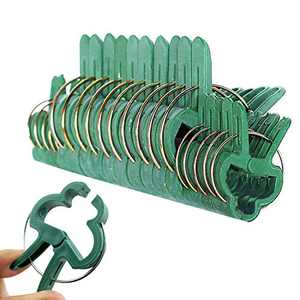 Yunjiadodo 60 Piece Plant Clips Trellis Clips for Climbing Plants,Plant Support Clips Tomato Clips, Supporting Climbing Vines, Stalks, Stems Grow Upright Climbing 2 Sizes